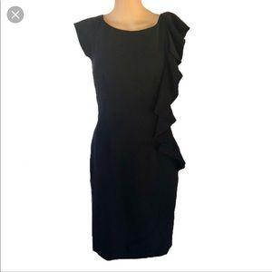 ❤️Antonio Melani gorgeous black ruffle dress!!❤️